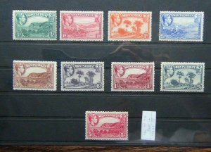 Montserrat 1938 - 48 Perf 12 values to 5s MM + SG101 - SG110