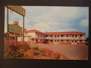 1957 Motel El Camino Denver Colorado to Canada Real Picture Postcard Cover