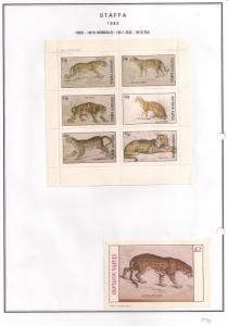 SCOTLAND - STAFFA - 1982 - Animals #7 - Perf 6v, D/L Sheets -MLH