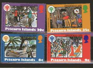 Pitcairn Islands MNH 188-91 1979 Christmas