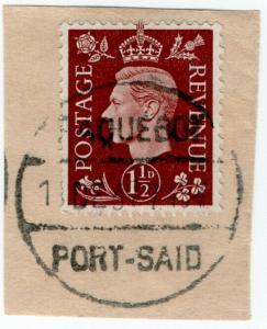 (I.B) George VI Postal : Paquebot Postmark (Port Said)