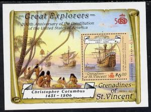 St Vincent - Grenadines 1988 Explorers the unissued $6 m/...