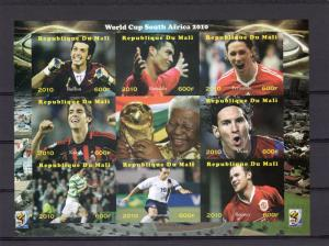 Mali 2010 World Cup Football South Africa 2010 Sheetlet (9) Imperforated  MNH VF