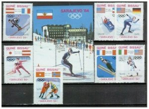 Guinea-Bissau - 1984 Winter Olympics On Stamps #529-36