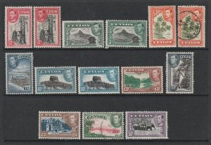 Ceylon a mainly MH lot of KGVI