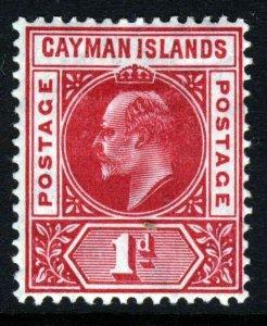 CAYMAN ISLANDS King Edward VII 1905 1d. Carmine Wmk Mult Crown CA SG 9 MINT