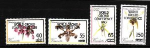 Vanuatu-Sc#586-9-Unused NH set-Flowers-Orchids-1993--please note there is a smal