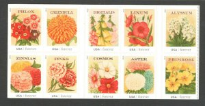 4754-63 Vintage Seed Packets Block Of 10 Mint/nh Free Shipping