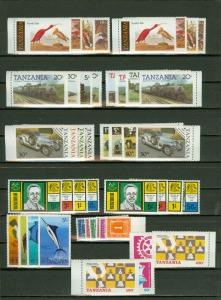 EDW1949SELL : TANZANIA Nice all VF MNH collection of Cplt sets & S/S 1-2 of each