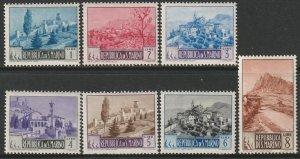 San Marino Sc 278-284 partial set MH