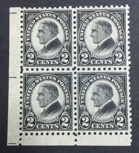 MOMEN: US STAMPS #612 MINT OG NH BLOCK