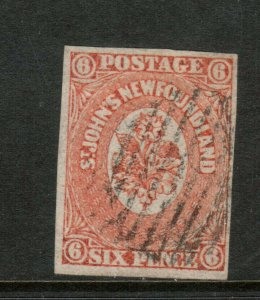 Newfoundland #13 Very Fine Used **With Certificate**