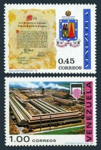 Venezuela 945-946, MNH. Michel 1794-1795. Charter, Coat of Arms; Complex. 1969.