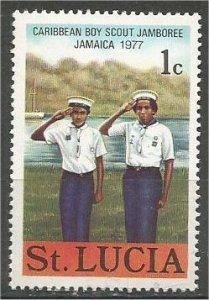 ST. LUCIA 1977, MNH, 1c  Sea Scouts Scott 420