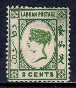 Labuan - Scott #5 - MNG - Spacefiller with large thin at top - SCV $27
