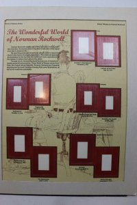 Norman Rockwell stamp tribute frameable art page mount World Series postal socie