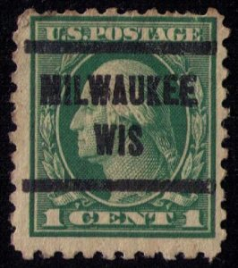 US Scott #462 Precancel MILWAUKEE WIS.F-VF