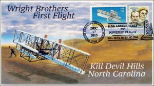 2015, 112th Anniv of Powered Flight, Kill Devil Hills NC,  Wright Bros, 15-318