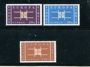 Cyprus #229-231 Mint VF LH