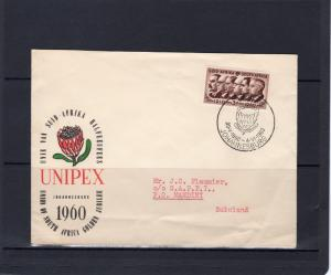 SOUTH AFRICA 1960 UNIPEX Golden Jubilee cover to Zululand