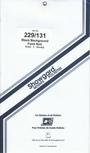 SHOWGARD BLACK MOUNTS 229/131 (5) RETAIL PRICE $10.75