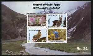 India MNH S/S 1564a Himalayan Ecology 1996