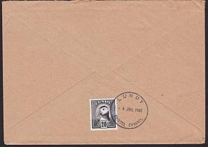 GB LUNDY 1985 20p Puffin on cover ..........................................5734