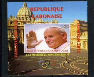 GABON 2009 Pope John Paul II Memory Deluxe s/s Mint (NH) VF #2
