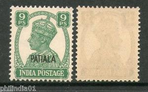 India PATIALA State 9ps KG VI Postage SG105 Cat £2 MNH