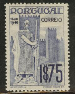 PORTUGAL Scott 594 Mint Hinged MH* from the 1940 Lisbon Intl Expo set 1940
