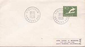 Sweden 1956 Special Cancel. Stockholm,Norden Dag EUROPA/Cept Forrunner to USA.