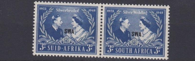 SOUTH WEST AFRICA  1948  S G  137  3D SILVER WEDDING    MNH