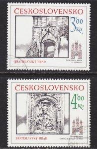 Czechoslovakia Scott 2618-19 complete set VF CTO.
