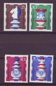 J25197 JLstamps 1972 germany set mnh #b491-4 chess