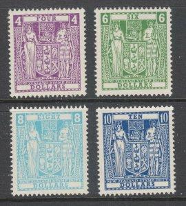 New Zealand Sc 404A-404D, MNH. 1967 decimal Coat of Arms, cplt set, fresh, F-VF
