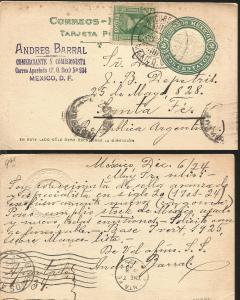 J) 1924 MEXICO, 2 CENTS GREEN, AZTEC CALENDAR, LEONA VICARIO, POSTAL STATIONARY,