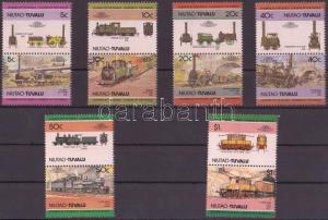 Tuvalu-Niutao stamp Locomotives (I) 6 pairs MNH 1984 Mi 9-20 WS143052