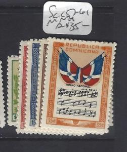 DOMINICAN REPUBLIC (P1010B)  MUSIC  SC C57-61    MNH