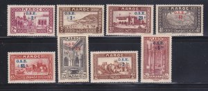 French Morocco B13-B20 Set MH Surcharges