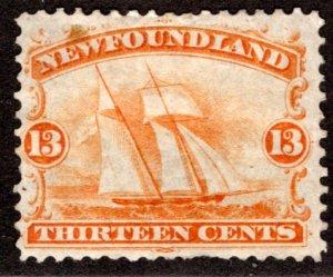 30, NSSC, Newfoundland, Canada, 13c, F, MHOG, Ship, Postagee Stamp