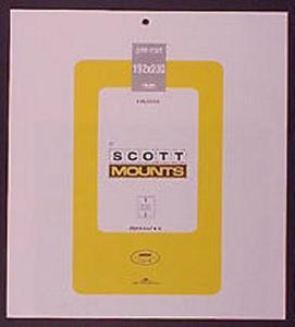 Prinz Scott Stamp Mount 192/230 BLACK Background Pack of 3