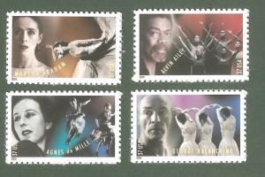 3840-43 American Choreographers Set Of 4 MNH Free Shipping (A-232)