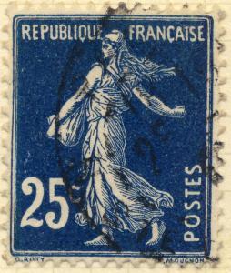 FRANCE - 1907 - Yv.140/Mi.119ax 25c bleu-noir Type 1A - Oblitéré TB (Paris)