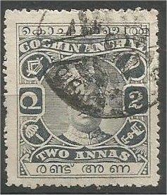 COCHIN, INDIA, 1918, used 2a, Sri Rama Varma II, Scott 31