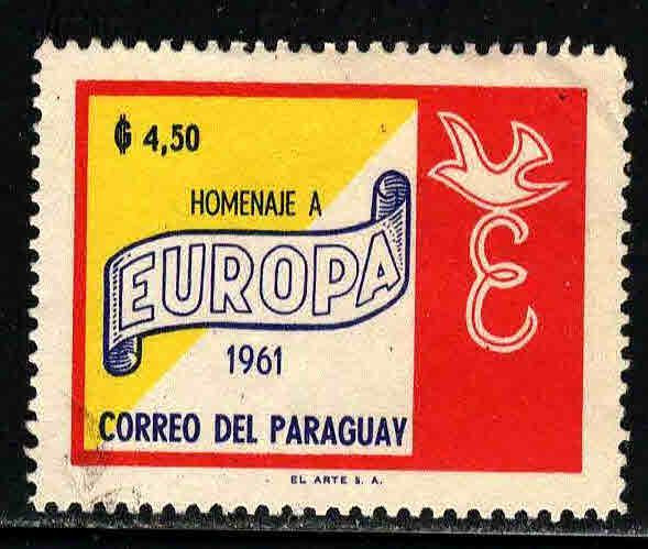 Paraguay # 627 ~ Used, Sm. Corner Wrinkle Upper Right