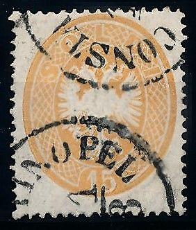 [68831] Levante Austria 1863 Lombardy-Venetia stamp Cancelled Constantinopel