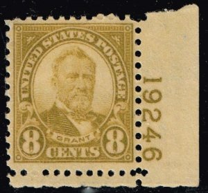 US STAMP # 640 8c Rotary Press 1926-28 MNH/OG PL#