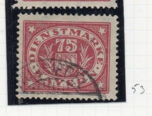 Bayern 1920 Official Early Issue Fine Used 75pf. NW-10763