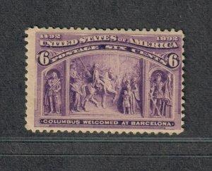 US Sc#235 M/NH/F, Cv. $140