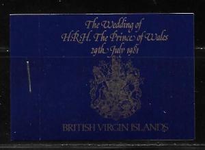 Virgin Islands 406-8 Diana Wedding Booklet MNH